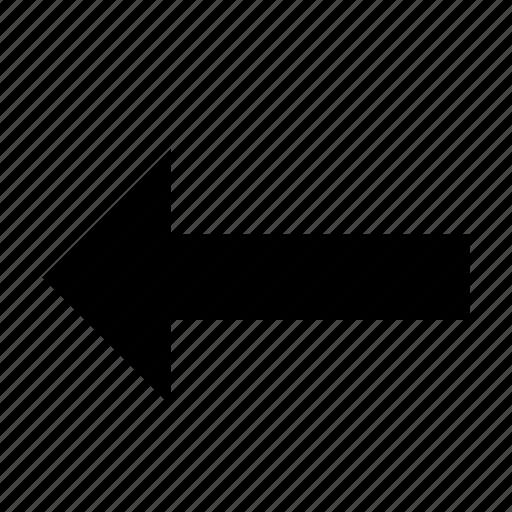 arrow, backward, left icon