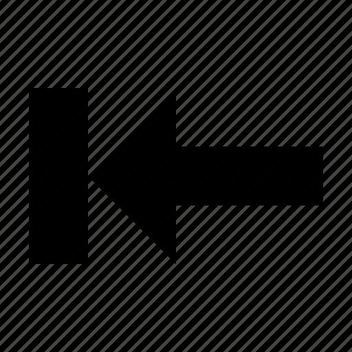 Left, arrow, start icon
