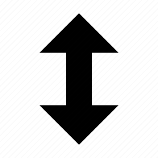 arrow, resize, vertical, window icon