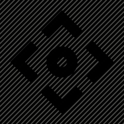 arrow, center, focus, point icon
