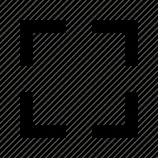 crop, frame, target icon