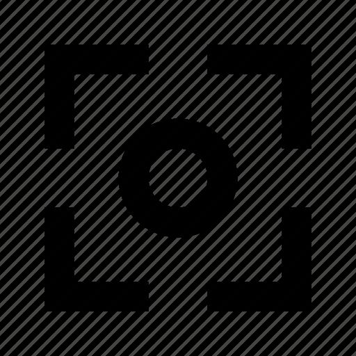 center, crop, focus, frame, point icon