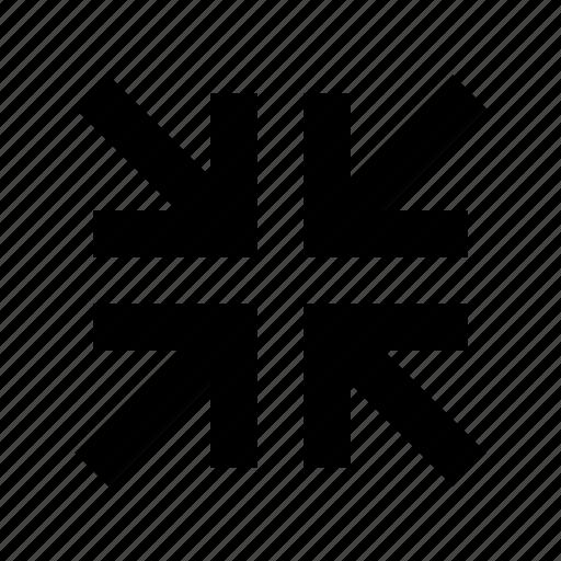 arrow, minimize icon