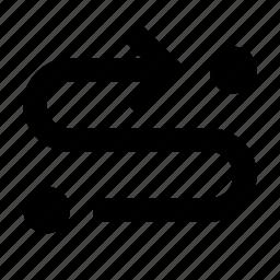 arrow, forward, oneway, route icon