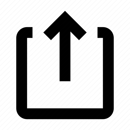 arrow, share, upload icon