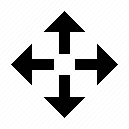 arrow, direction, move, position icon
