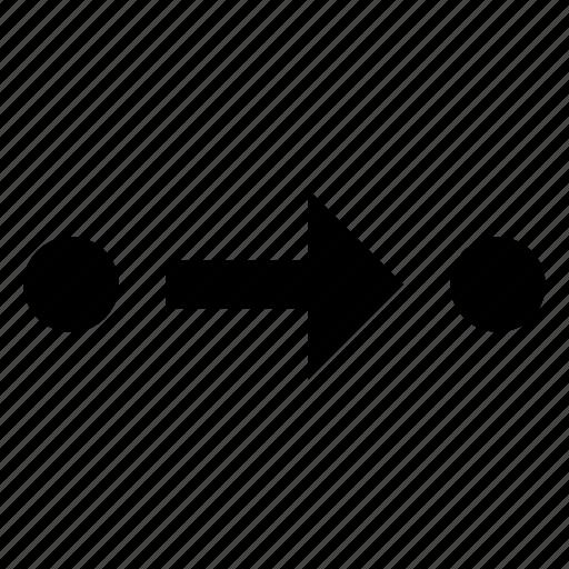 arrow, line, route icon