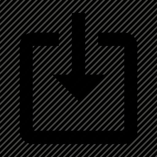 arrow, inside, login icon