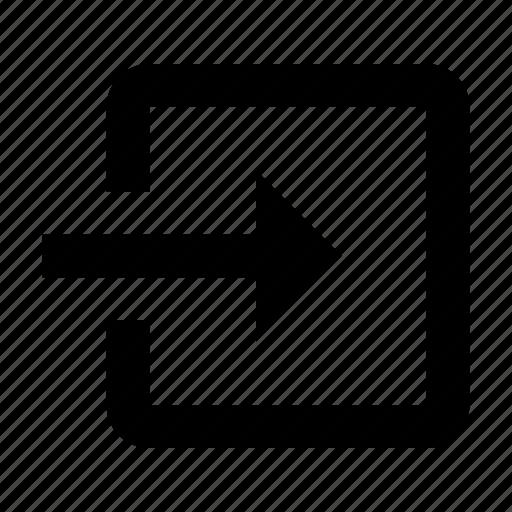 arrow, enter, login, signin icon