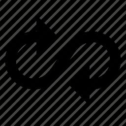 arrow, cycle, flow, infinity, random icon