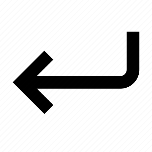 arrow, enter, send icon