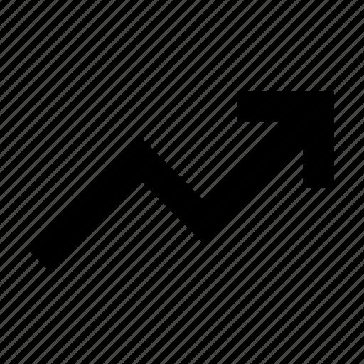 arrow, chart, high, rise icon