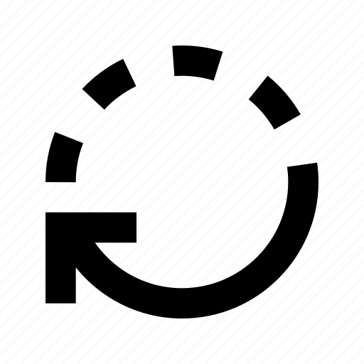 clockwise, rotate, undo icon