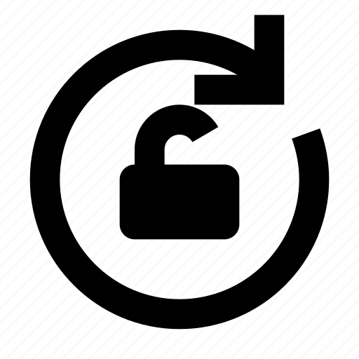 arrow, refresh, reload, rotate, unlock icon