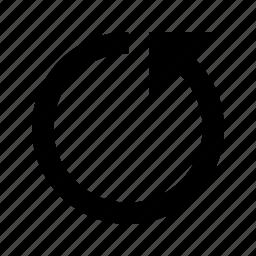 arrow, back, refresh, reload, rotate, undo icon
