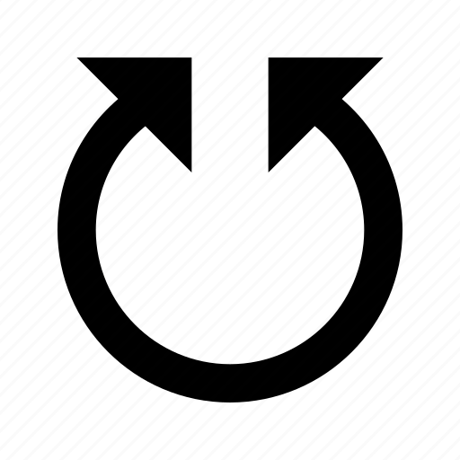 rotate, spin, twist icon