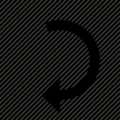 arrow, back, rotate, undo icon