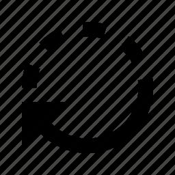 arrow, back, backup, rotate, undo icon