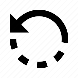 arrow, back, refresh, rotate, undo icon