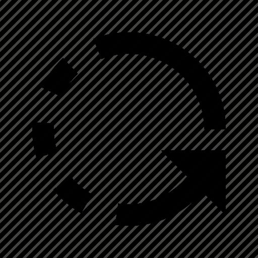 arrow, counterclockwise icon