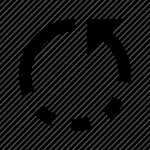 arrow, back, backup, refresh, rotate, undo icon