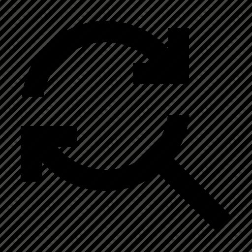 find, sync icon