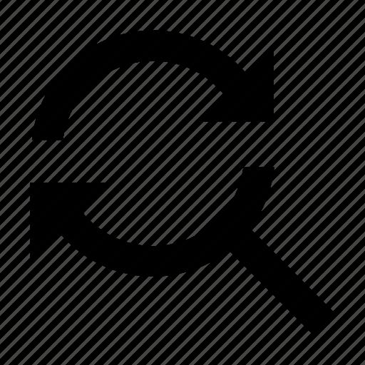 arrow, refresh, reload, search, sync, synchronization icon