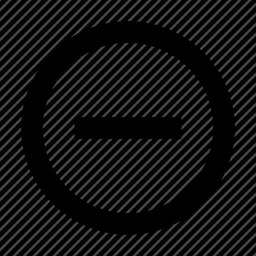 minus, remove, round icon
