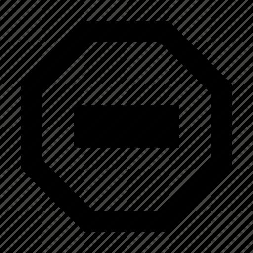 block, delete, remove, restriction, stop icon