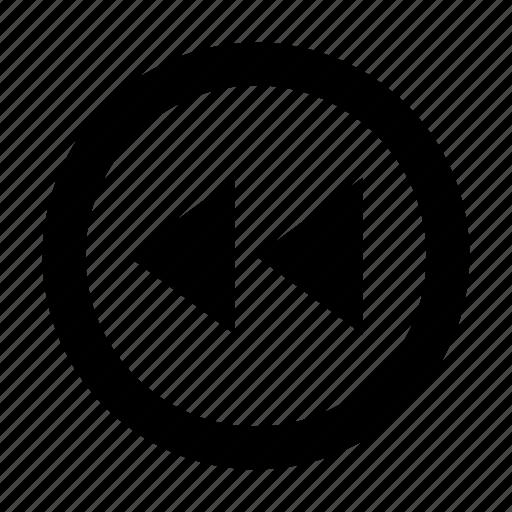 arrow, back, backward, player, rewind icon