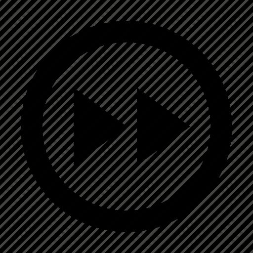 forward, rewind, round icon