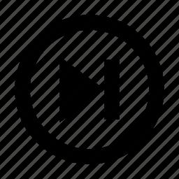 arrow, forward, next, player icon