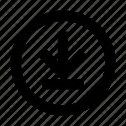 arrow, download, get icon