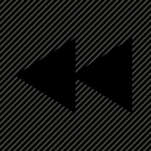 backward, left, rewind icon