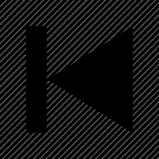 arrow, back, player, previous icon