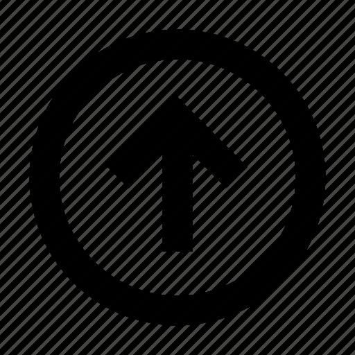 arrow, round, up icon