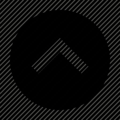 arrow, hide, up icon