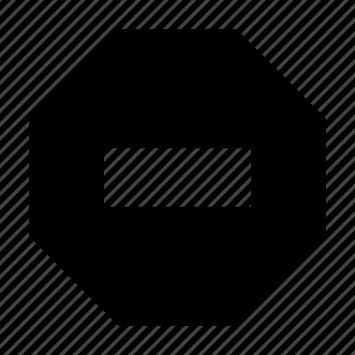 block, delete, restriction, stop icon