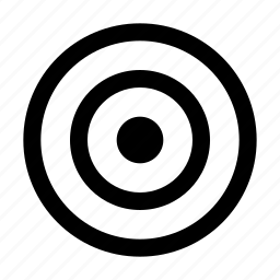 circles, darts, goal, target icon