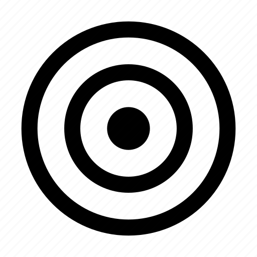 circles, darts, target icon