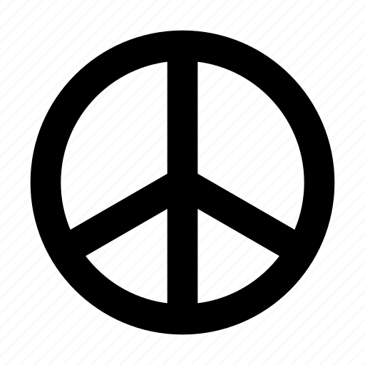 hippy, peace, sign icon