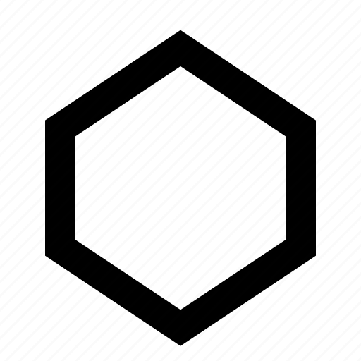 Hexagon, outline icon - Download on Iconfinder on Iconfinder