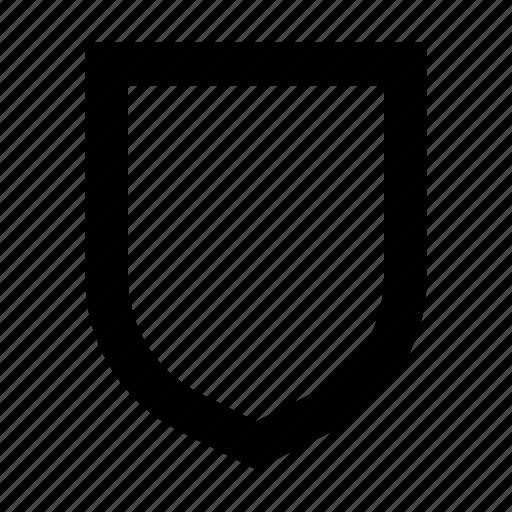 badge, insignia, shape, shield icon