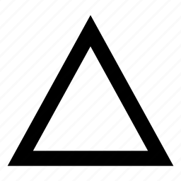 badge, insignia, shape, triangle icon