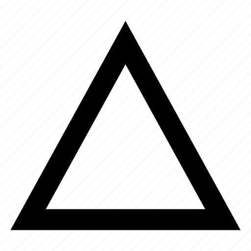 Triangle, outline icon - Download on Iconfinder