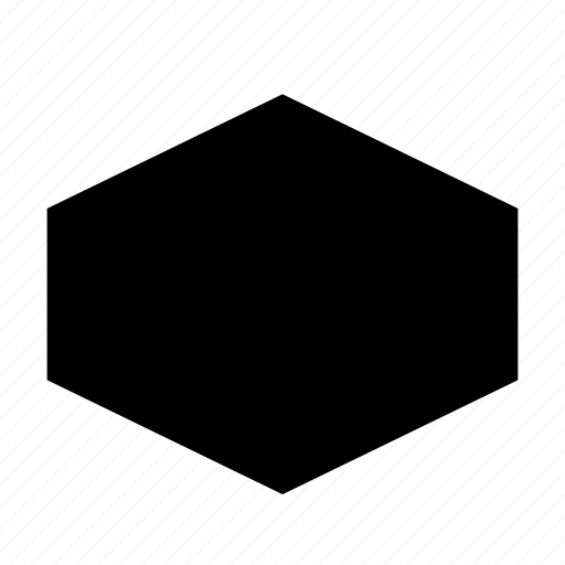 badge, hexagon, insignia, shape icon