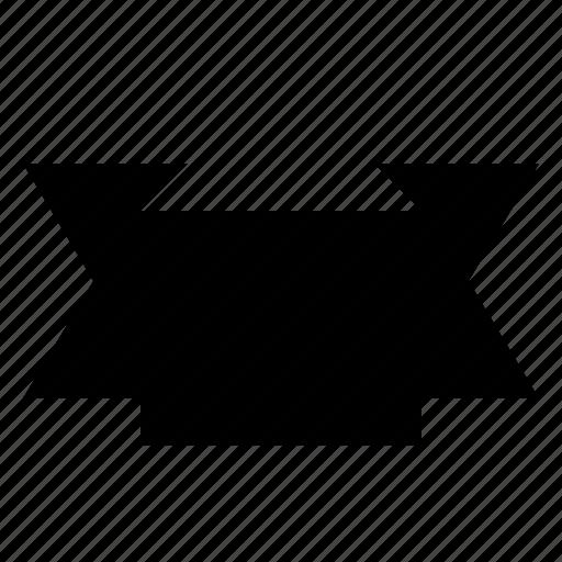 badge, insignia, ribbon, shape icon