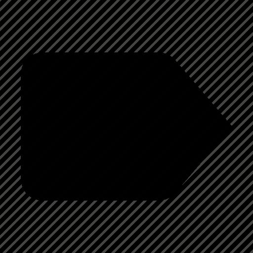 label, mark, tag icon