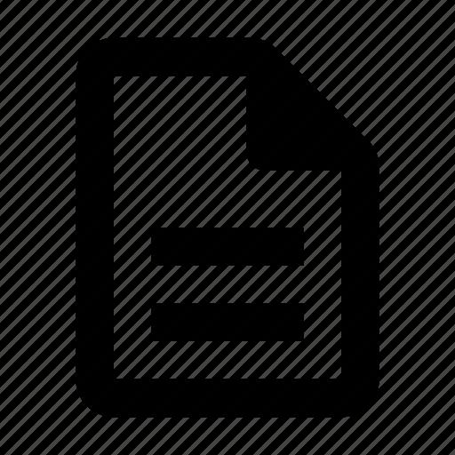 description, document, file, outline, page icon