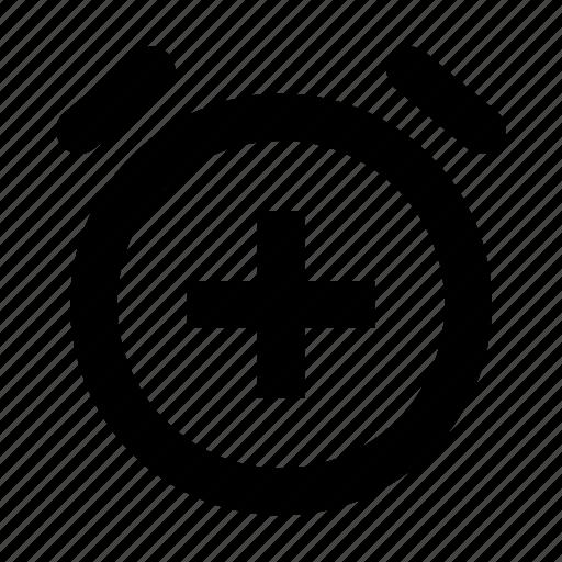 add, alarm, clock icon